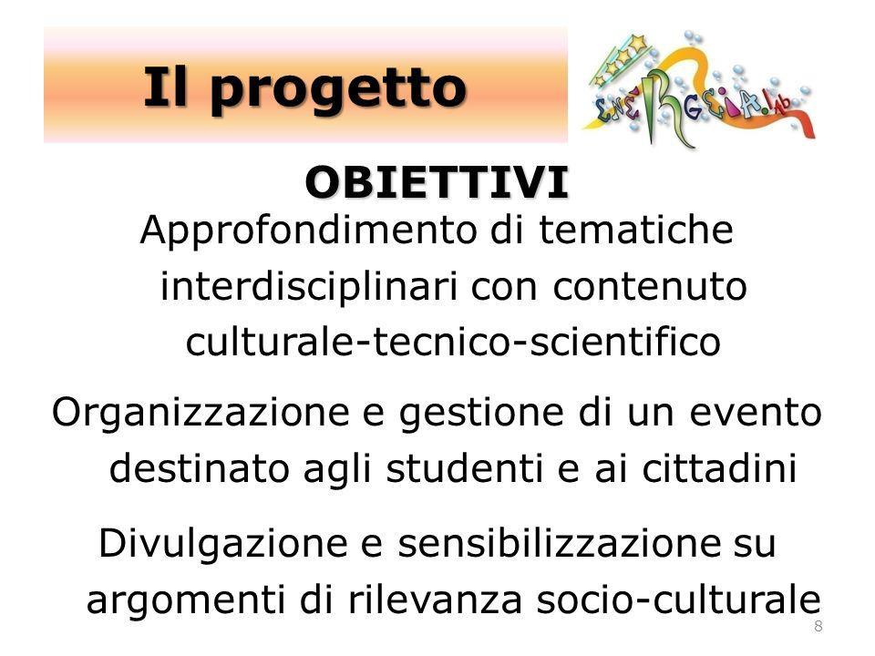 Il progetto OBIETTIVI. Approfondimento di tematiche interdisciplinari con contenuto culturale-tecnico-scientifico.