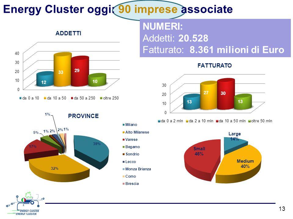 Energy Cluster oggi: 90 imprese associate