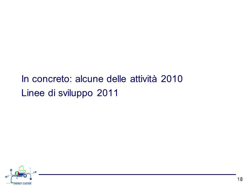 In concreto: alcune delle attività 2010