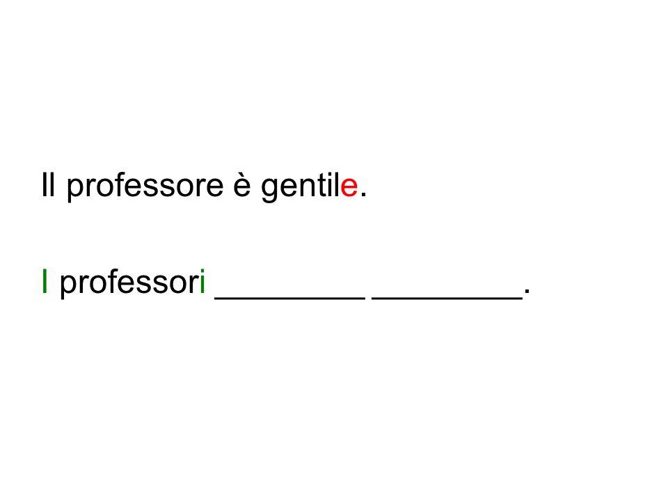 Il professore è gentile.
