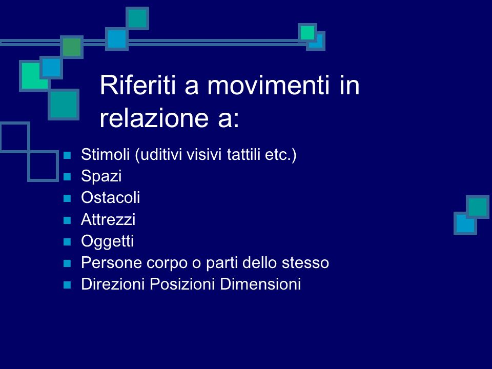 Riferiti a movimenti in relazione a: