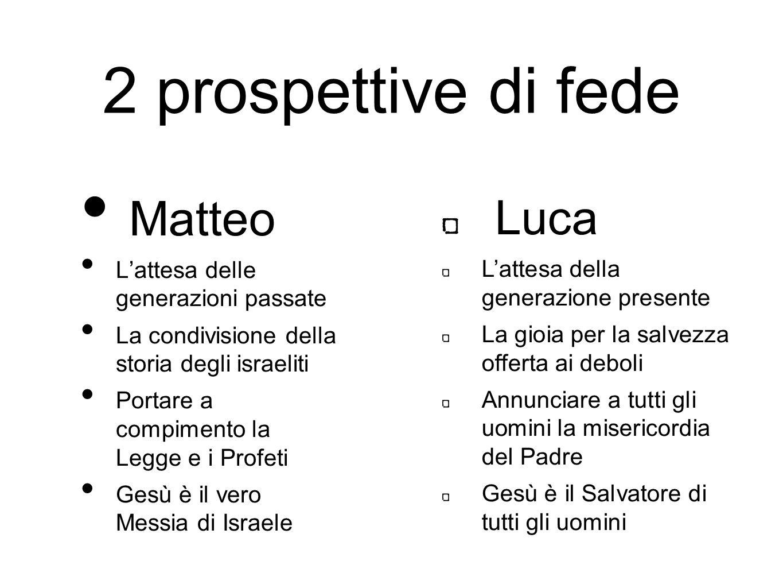 2 prospettive di fede Matteo Luca L'attesa delle generazioni passate