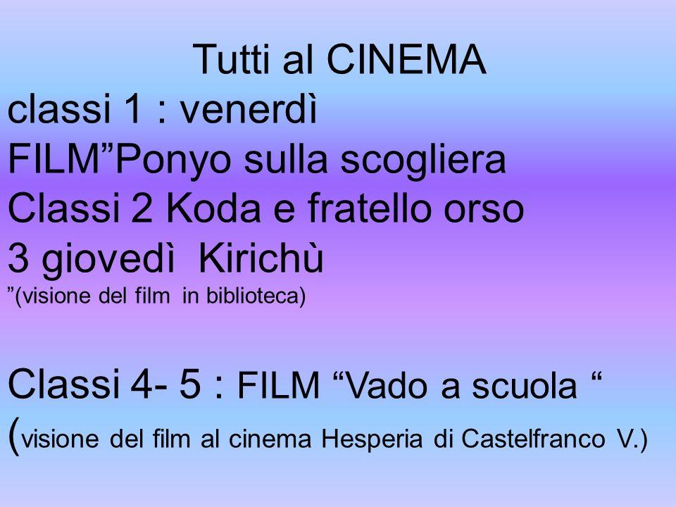FILM Ponyo sulla scogliera Classi 2 Koda e fratello orso
