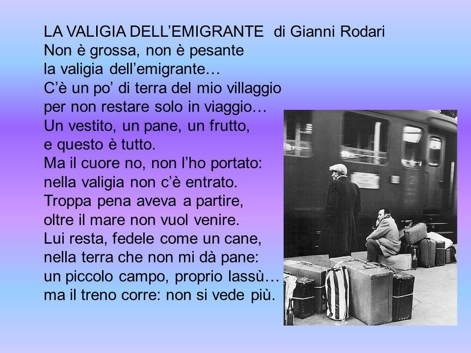 LA VALIGIA DELL'EMIGRANTE di Gianni Rodari