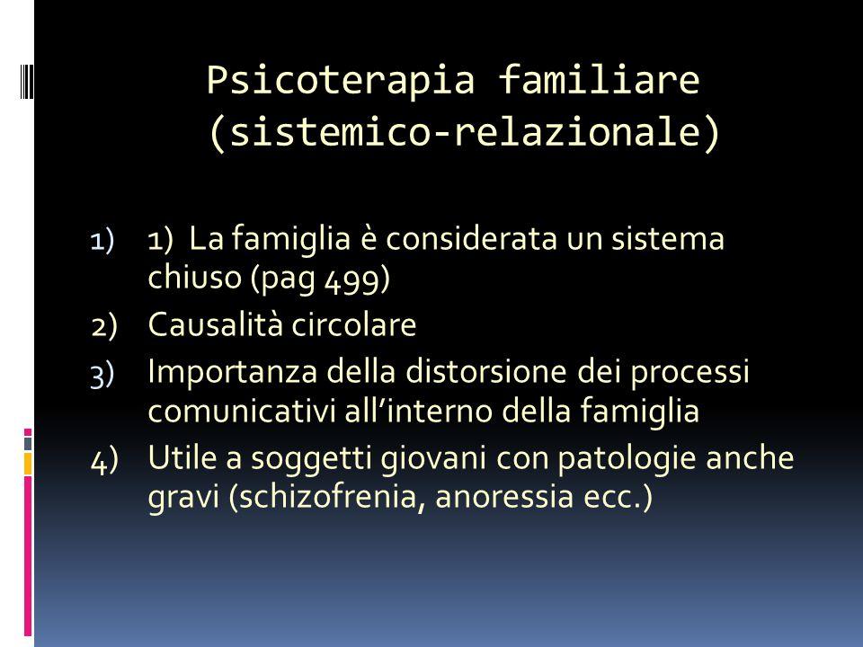 Psicoterapia familiare (sistemico-relazionale) terapia sistemico-relazionale