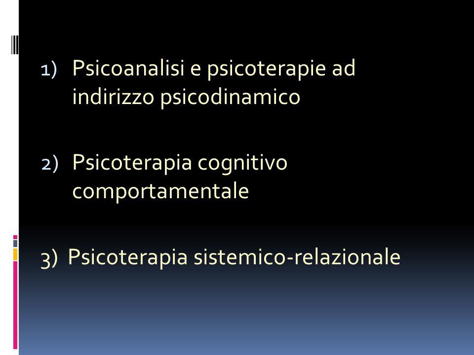 Psicoanalisi e psicoterapie ad indirizzo psicodinamico