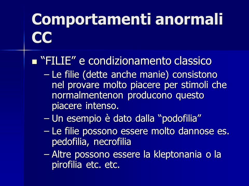 Comportamenti anormali CC