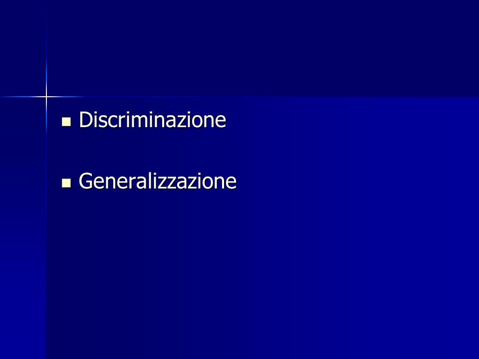 Discriminazione Generalizzazione
