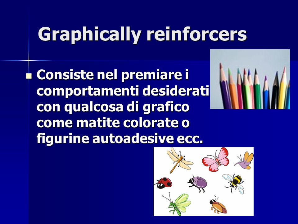 Graphically reinforcers