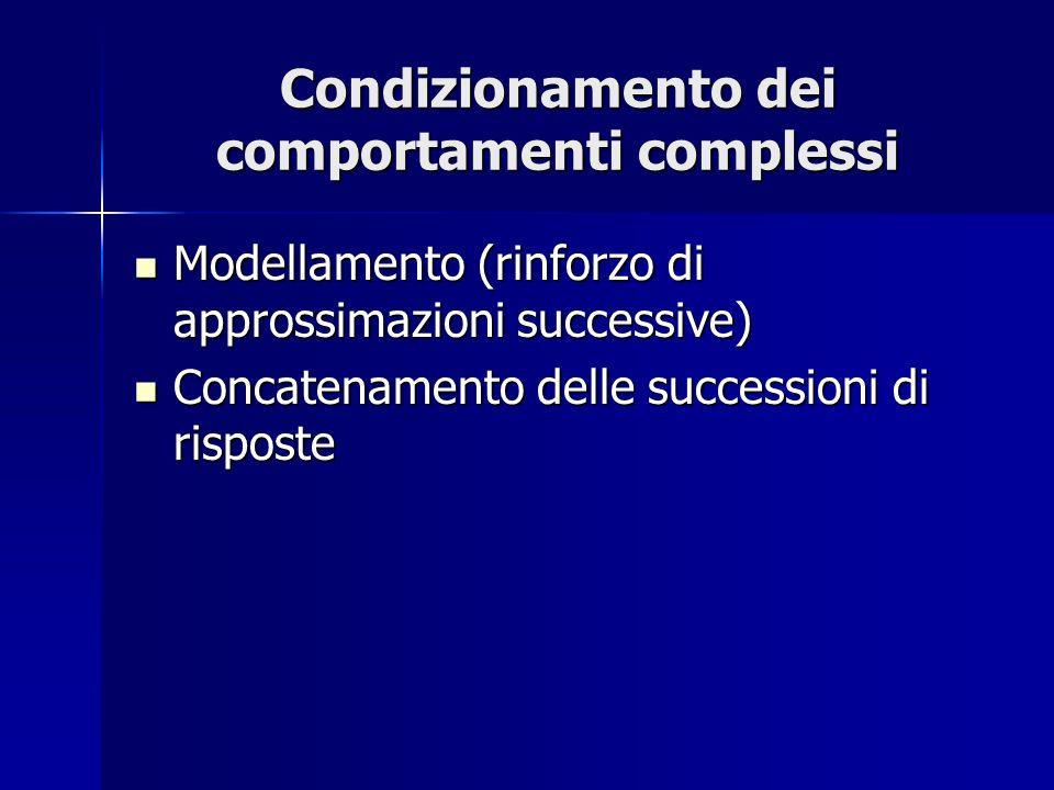 Condizionamento dei comportamenti complessi