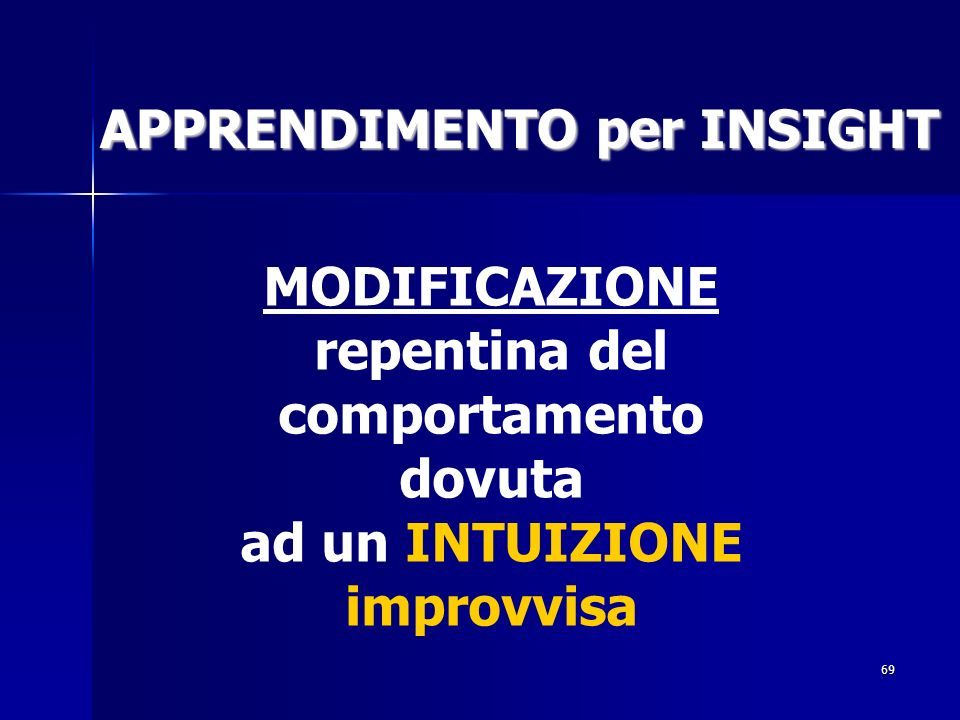 APPRENDIMENTO per INSIGHT