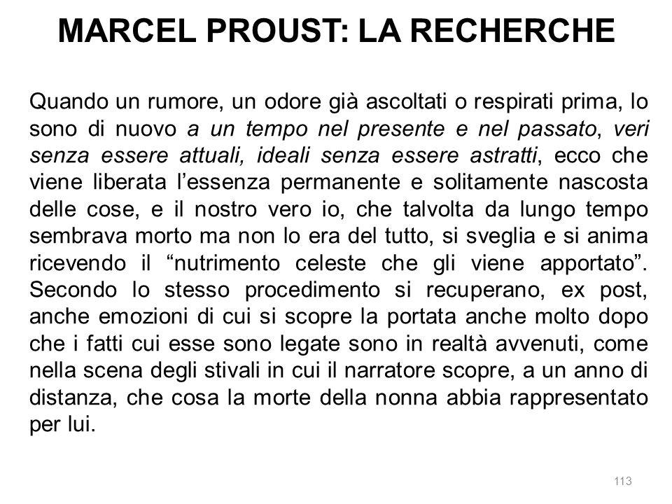 MARCEL PROUST: LA RECHERCHE