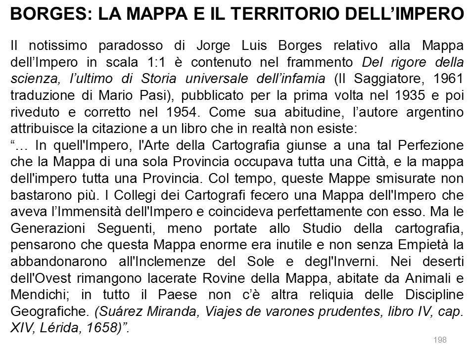 BORGES: LA MAPPA E IL TERRITORIO DELL'IMPERO