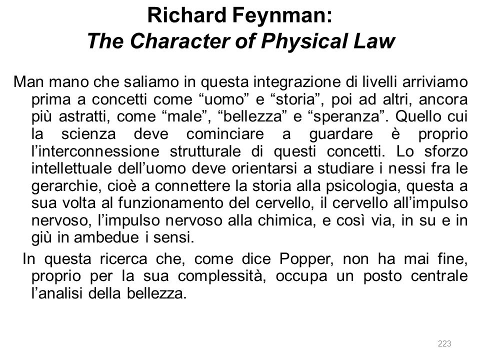 Richard Feynman: The Character of Physical Law