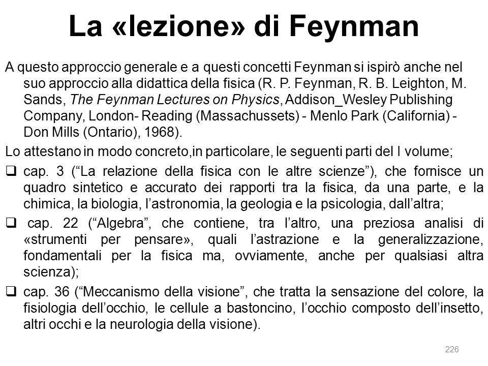 La «lezione» di Feynman