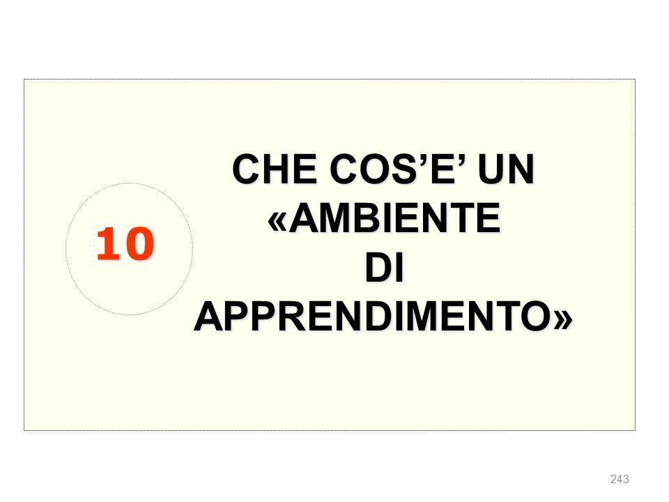 CHE COS'E' UN «AMBIENTE DI APPRENDIMENTO» 10
