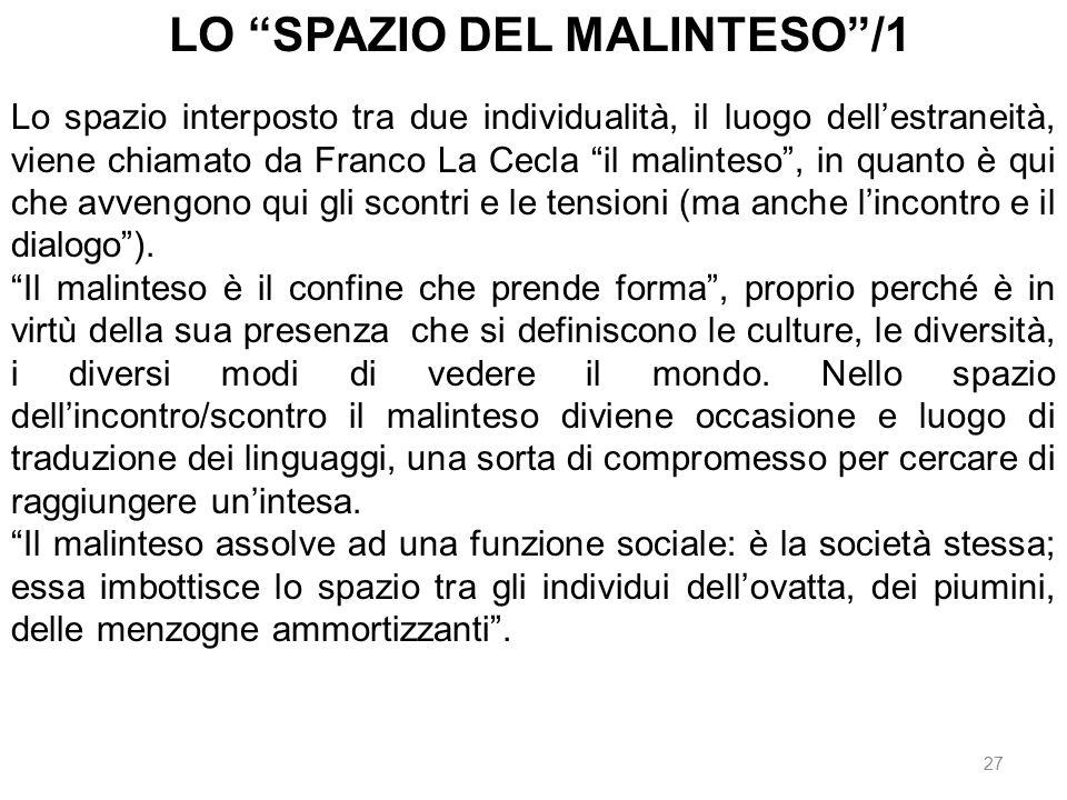 LO SPAZIO DEL MALINTESO /1
