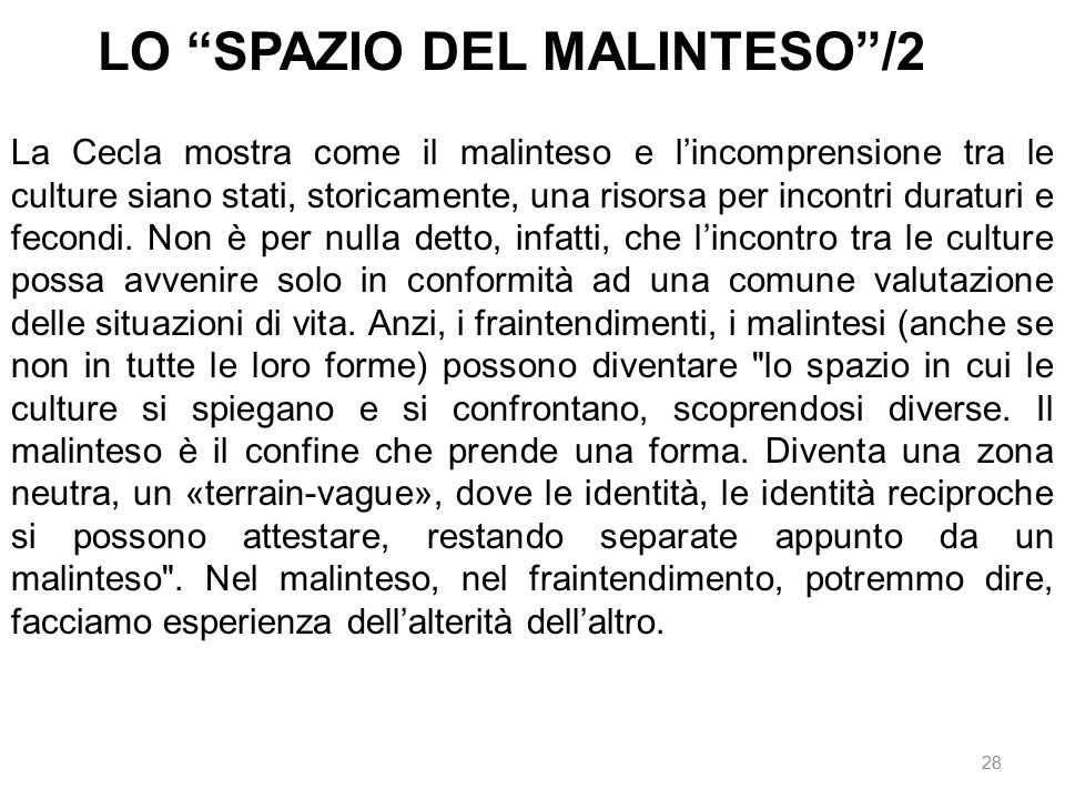 LO SPAZIO DEL MALINTESO /2