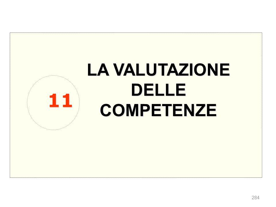 LA VALUTAZIONE DELLE COMPETENZE 11