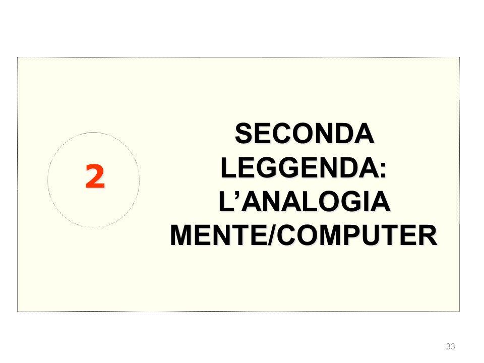 SECONDA LEGGENDA: L'ANALOGIA MENTE/COMPUTER 2