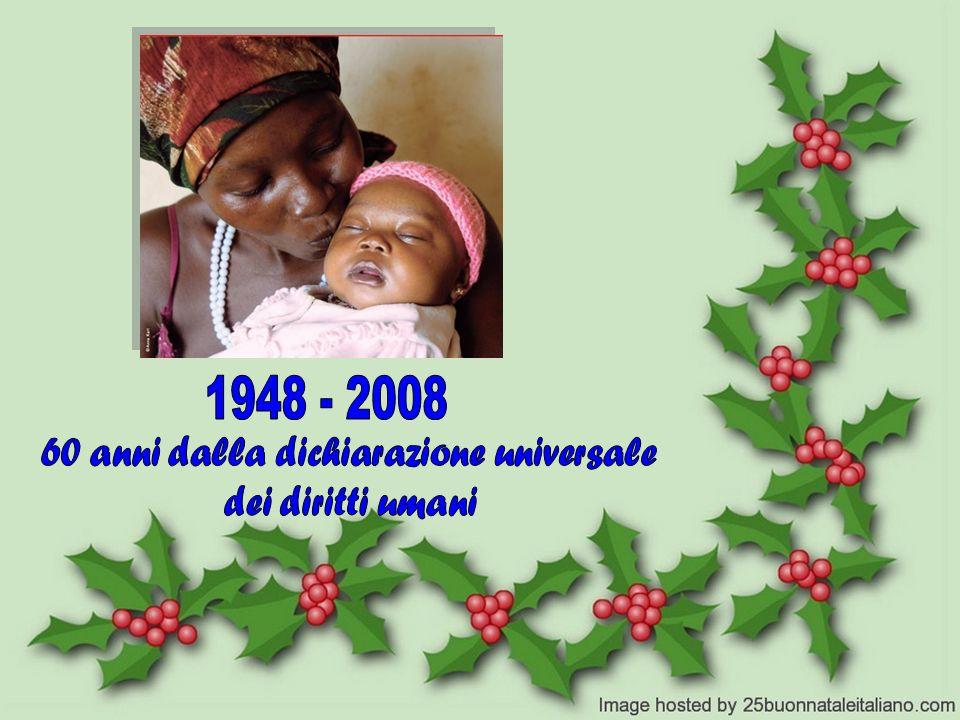 60 anni dalla dichiarazione universale