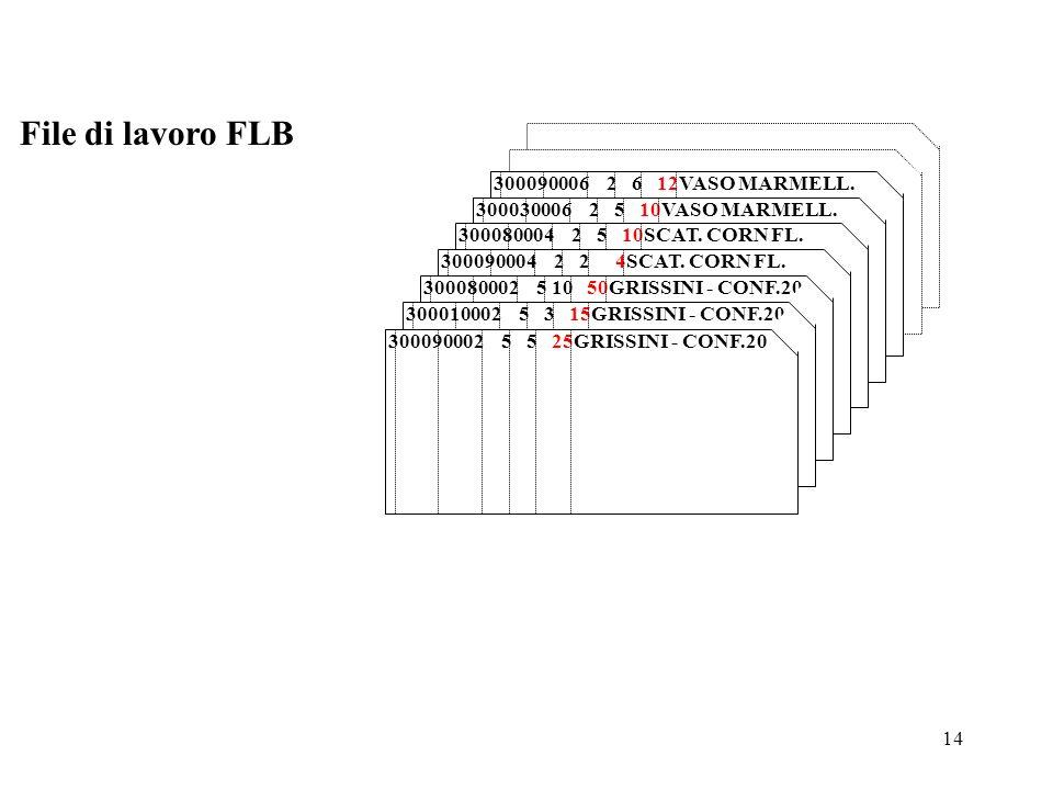 File di lavoro FLB 300090006 2 6 12VASO MARMELL.