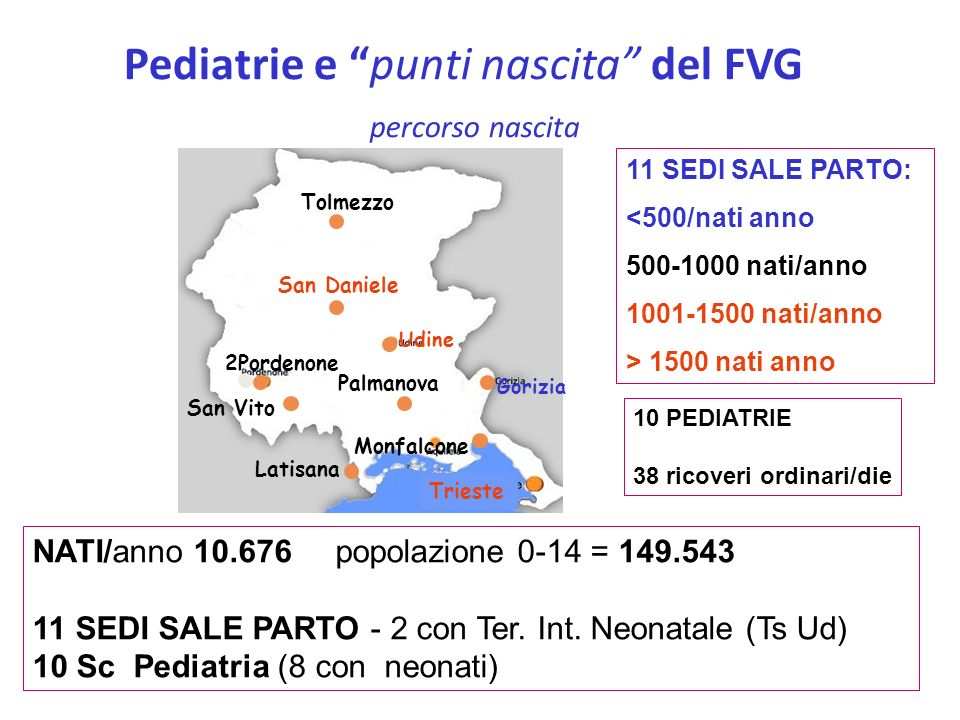 Pediatrie e punti nascita del FVG percorso nascita