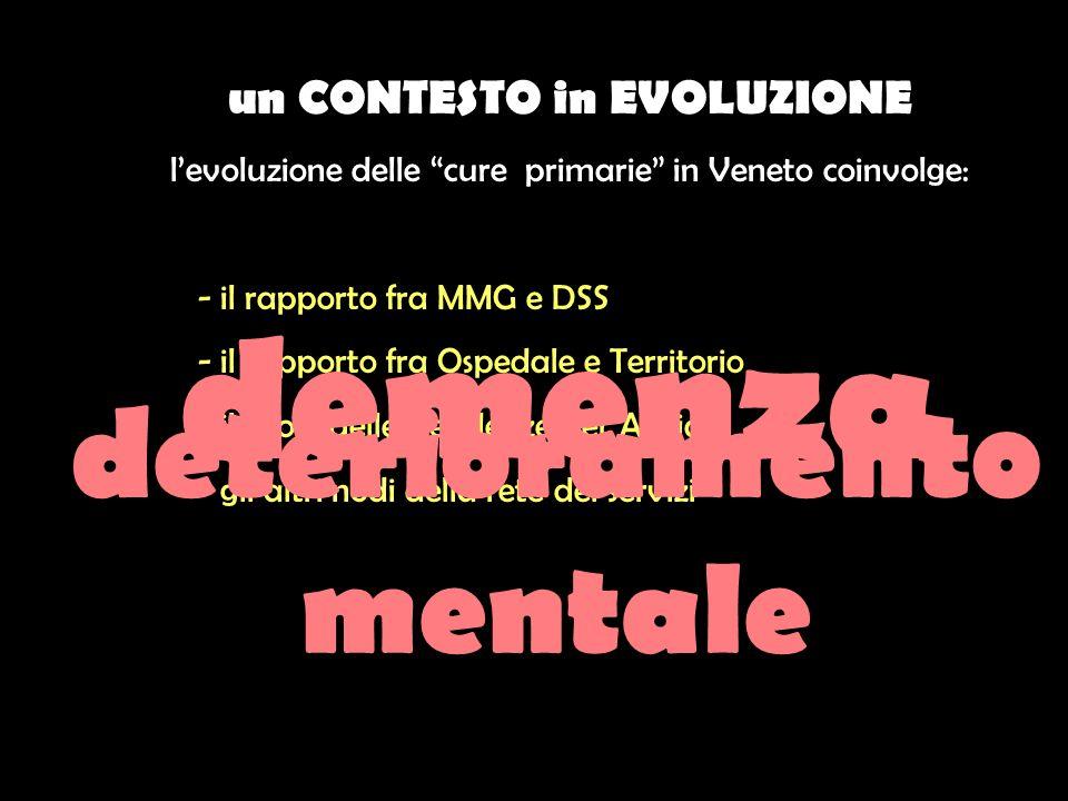 un CONTESTO in EVOLUZIONE deterioramento mentale