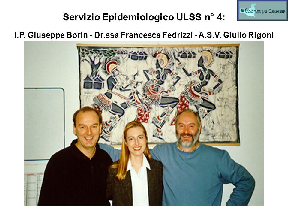Servizio Epidemiologico ULSS n° 4: