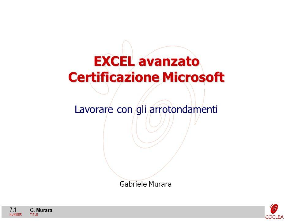 EXCEL avanzato Certificazione Microsoft