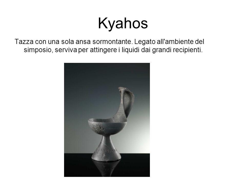 Kyahos Tazza con una sola ansa sormontante.