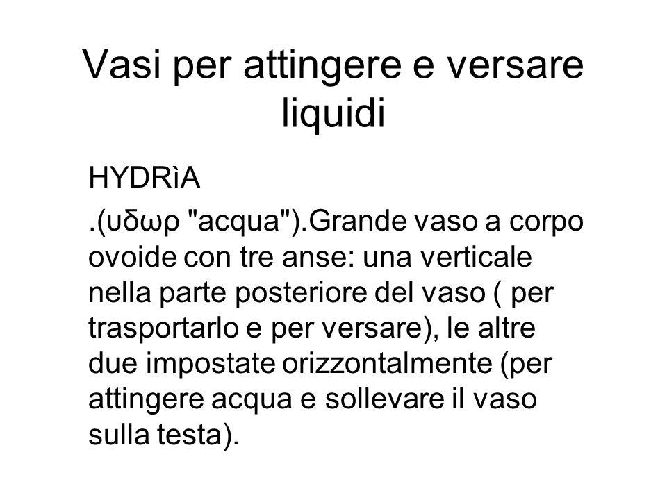 Vasi per attingere e versare liquidi