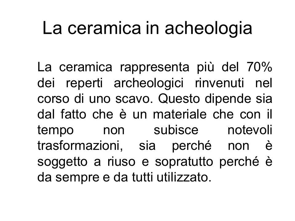 La ceramica in acheologia