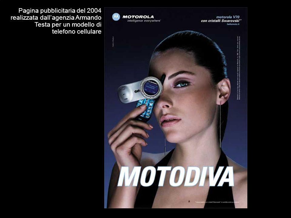 Pagina pubblicitaria del 2004 realizzata dall'agenzia Armando Testa per un modello di telefono cellulare