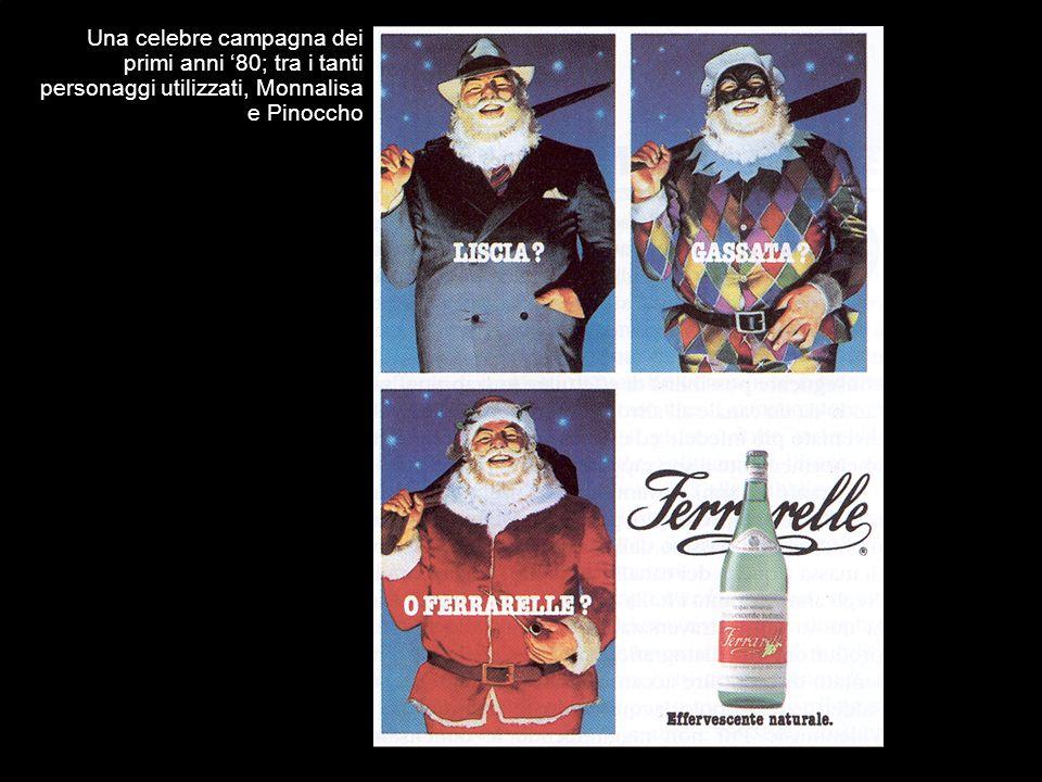 Una celebre campagna dei primi anni '80; tra i tanti personaggi utilizzati, Monnalisa e Pinoccho