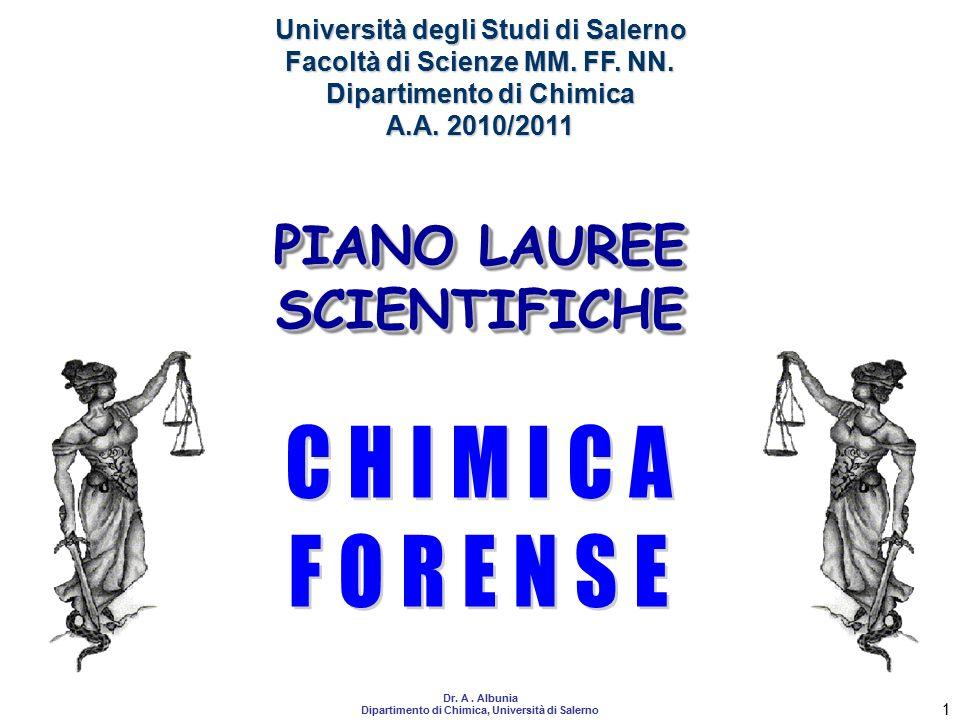 CHIMICA FORENSE PIANO LAUREE SCIENTIFICHE