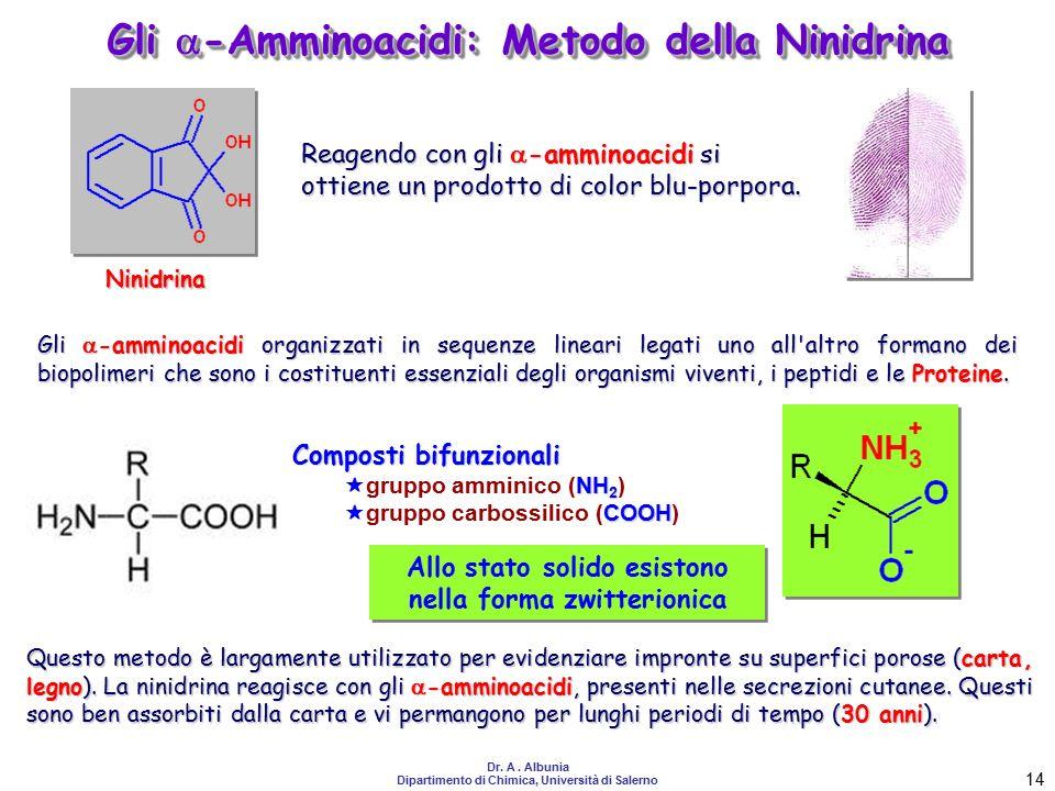 Gli -Amminoacidi: Metodo della Ninidrina