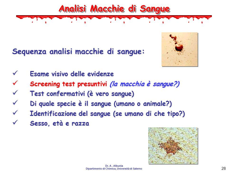 Analisi Macchie di Sangue