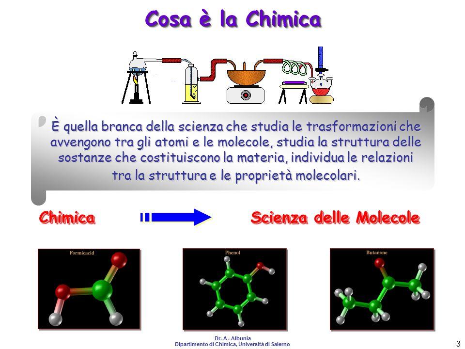 Scienza delle Molecole Dipartimento di Chimica, Università di Salerno