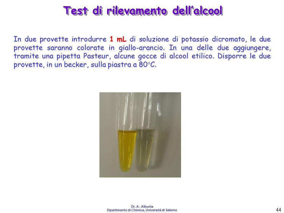 Test di rilevamento dell'alcool