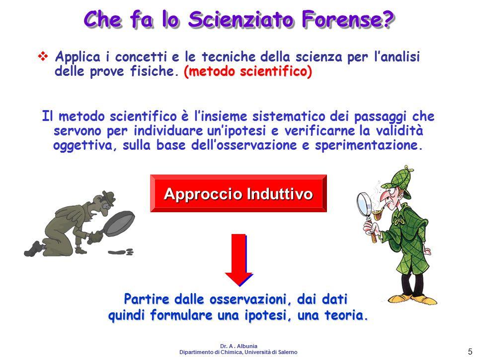 Che fa lo Scienziato Forense