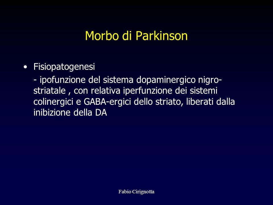 Morbo di Parkinson Fisiopatogenesi