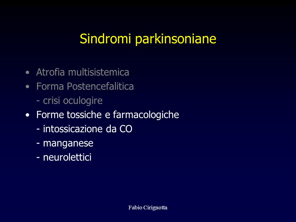 Sindromi parkinsoniane