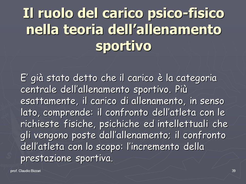 Il ruolo del carico psico-fisico nella teoria dell'allenamento sportivo