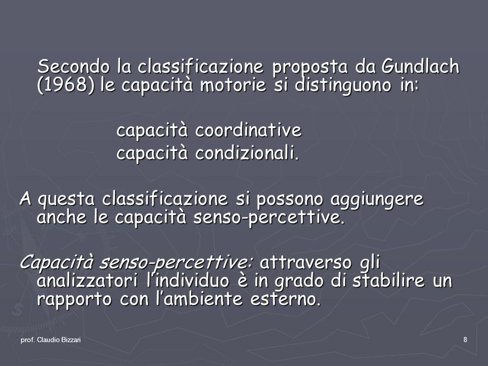 capacità coordinative capacità condizionali.