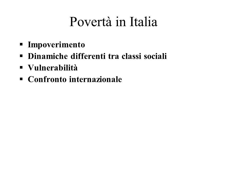 Povertà in Italia Impoverimento