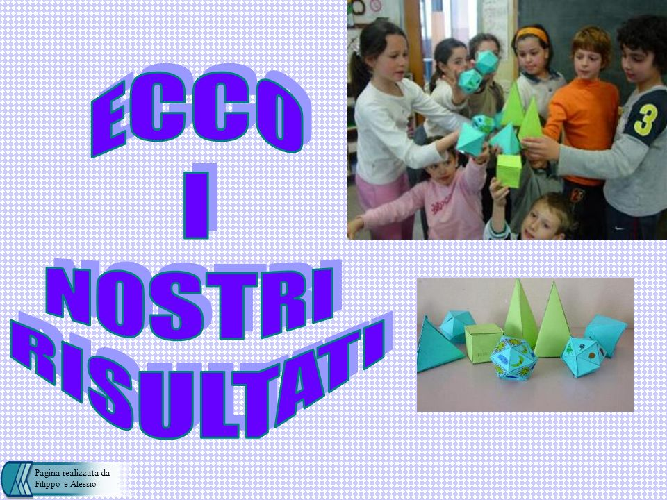 ECCO I NOSTRI RISULTATI Pagina realizzata da Filippo e Alessio