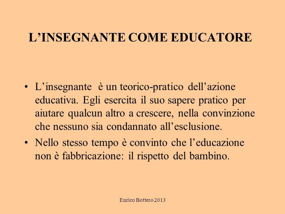 L'INSEGNANTE COME EDUCATORE