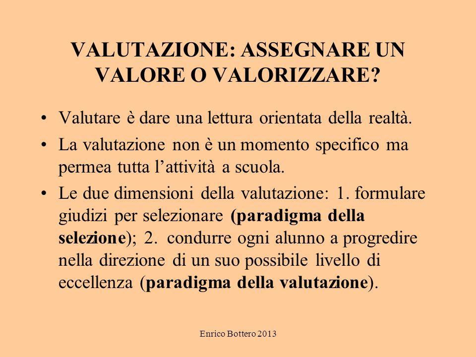 VALUTAZIONE: ASSEGNARE UN VALORE O VALORIZZARE
