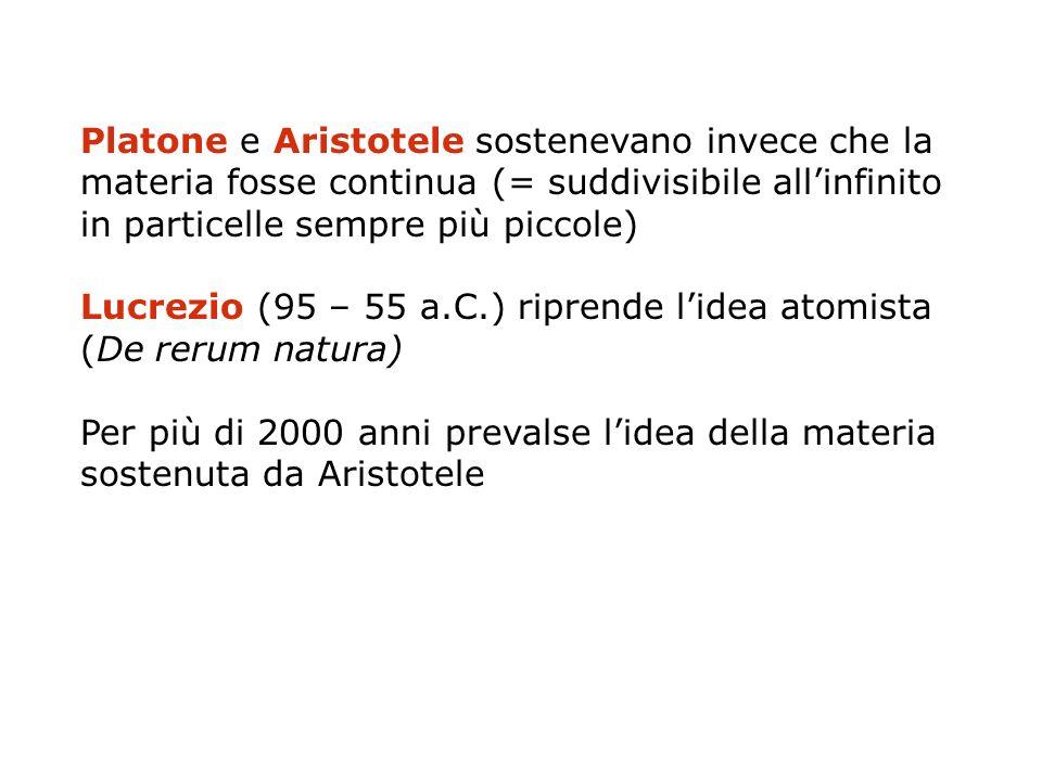 Lucrezio (95 – 55 a.C.) riprende l'idea atomista (De rerum natura)